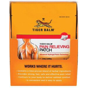 Tiger Balm® Pain Relieving Patch Display - 12 Single Size Count (228 0807)