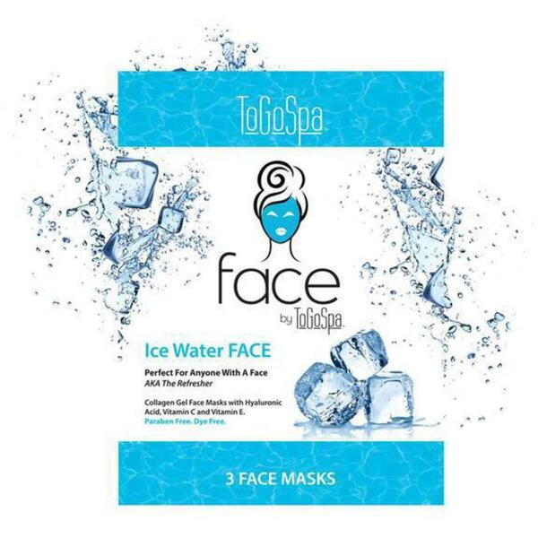 FACE by ToGoSpa™ Collagen Gel Face Masks - Ice Water 7 Retailable Packs of 3 = 21 Face Masks (280 0336 04)