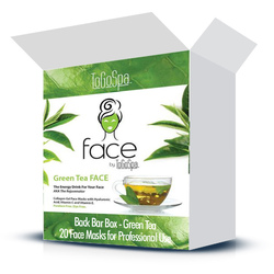 FACE by ToGoSpa™ Collagen Gel Face Masks - Back Bar Box - Green Tea 20 Face Masks in a Box (280 0337 03)