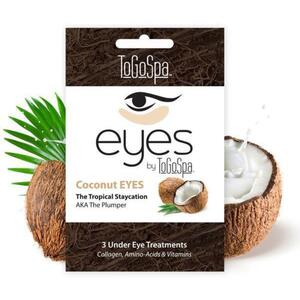 EYES by ToGoSpa™ Under Eye Collagen Gel Masks - Coconut 10 Retailable Packs of 3 Pairs = 30 Eye Mask Pairs (280 0330 02)