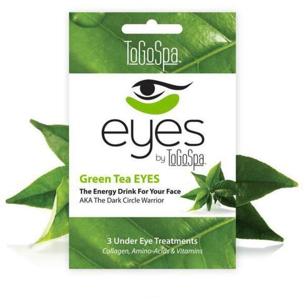EYES by ToGoSpa™ Under Eye Collagen Gel Masks - Green Tea 10 Retailable Packs of 3 Pairs = 30 Eye Mask Pairs (280 0330 03)