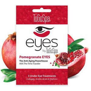 EYES by ToGoSpa™ Under Eye Collagen Gel Masks - Pomegranate 10 Retailable Packs of 3 Pairs = 30 Eye Mask Pairs (280 0330 05)