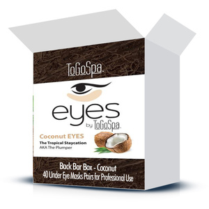 EYES by ToGoSpa™ Under Eye Collagen Gel Masks - Back Bar Box - Coconut 40 Eye Mask Pairs in a Box (280 0331 02)