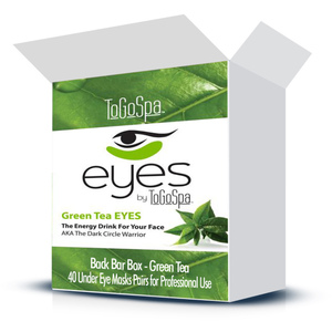 EYES by ToGoSpa™ Under Eye Collagen Gel Masks - Back Bar Box - Green Tea 40 Eye Mask Pairs in a Box (280 0331 03)