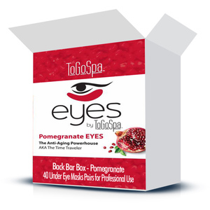 EYES by ToGoSpa™ Under Eye Collagen Gel Masks - Back Bar Box - Pomegranate 40 Eye Mask Pairs in a Box (280 0331 05)
