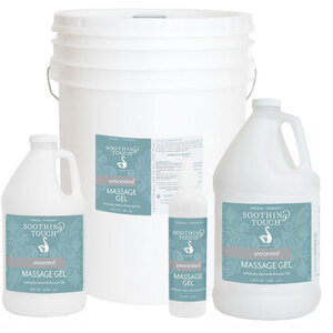 Soothing Touch® Unscented Massage Gel 64 oz. - 12 Gallon (227 0079 05)
