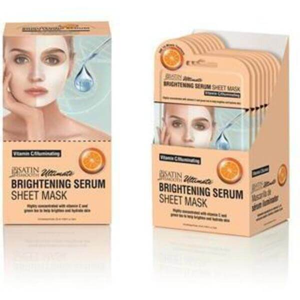 Satin Smooth® Serum Sheet Mask Display Box - BRIGHTENING SERUM SHEET MASKS 24 masks (182 0412 01)