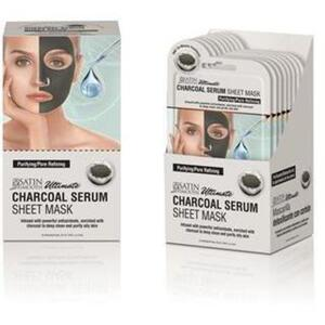 Satin Smooth® Serum Sheet Mask Display Box - CHARCOAL SERUM SHEET MASKS 24 masks (182 0412 02)