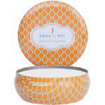 Aqua De Soi Triple Wick Candle in Decorative Tin - APRICOT SANDALWOOD 21 oz. (253 0100 05)