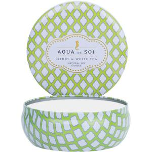 Aqua De Soi Triple Wick Candle in Decorative Tin - CITRUS & WHITE TEA 21 oz. (253 0100 07)