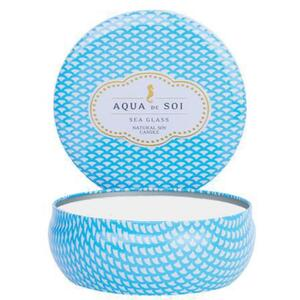 Aqua De Soi Triple Wick Candle in Decorative Tin - SEA GLASS 21 oz. (253 0100 09)