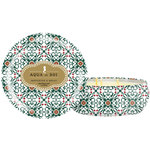 Aqua De Soi Triple Wick Candle in Decorative Tin - MISTLETOE & HOLLY - Part of the Holiday Collection 21 oz. (253 0103 15)