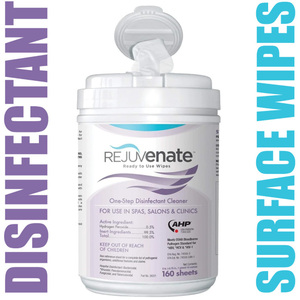 Rejuvenate™ One-Step Disinfectant Wipes | EPA Registered + Virucide + Bactericide + Tuberculocide + Fungicide 160 Wipes (025 0092)