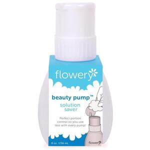 Flowery Twist Lock Beauty Pump White 8 oz. (282 0367)