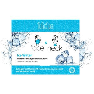 FACE & NECK by ToGoSpa™ Collagen Gel Face & Neck Masks - Back Bar Box - Ice Water 10 Face & 10 Neck (280 0346 04)