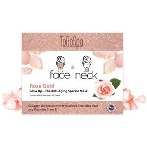 FACE & NECK by ToGoSpa™ Collagen Gel Face & Neck Masks - Back Bar Box - Rose Gold 10 Face & 10 Neck (280 0346 05)