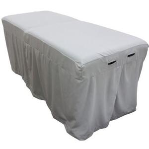 "Body Linen Tranquility™ Microfiber Massage Table Skirts - 32.25""W x 73""L x 24""H. 120 GSM - Stain Resistant Color: Mirage (229 0354 01)"