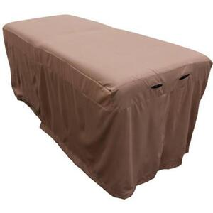 "Body Linen Tranquility™ Microfiber Massage Table Skirts - 32.25""W x 73""L x 24""H. 120 GSM - Stain Resistant Color: Walnut (229 0354 04)"