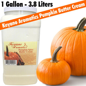 Keyano Aromatics - Pumpkin Spice Butter Cream 1 Gallon - 128 oz. - 3.8 Liters (225 0185 12)
