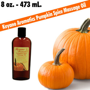 Keyano Aromatics - Pumpkin Spice Massage Oil 8 oz. - 473 mL. (224 0233 05)