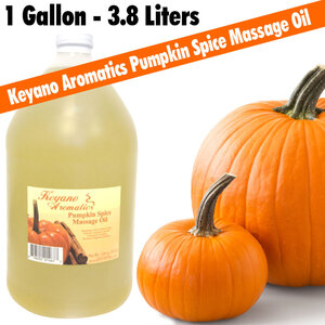 Keyano Aromatics - Pumpkin Spice Massage Oil 1 Gallon - 128 oz. - 3.8 Liters (224 0233 12)