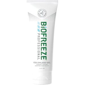 Biofreeze Professional Pain Relieving Gel - Topical Analgesic | COLORLESS 4 oz. Tube (228 5054 04 02)
