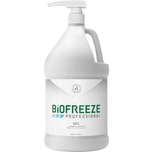 Biofreeze Professional Pain Relieving Gel - Topical Analgesic | GREEN 1 Gallon with Pump (228 5054 07 01)