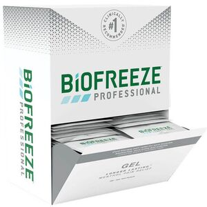 Biofreeze Professional Pain Relieving Gel - Topical Analgesic | GREEN 3 mL. Gel Packs - Box of 100 (228 5054 10 01)