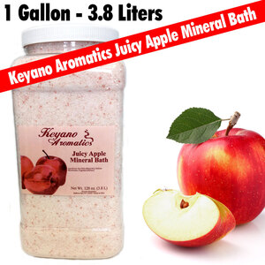 Keyano Aromatics - Juicy Apple Mineral Bath 128 oz. - 1 Gallon (209 0151 12)