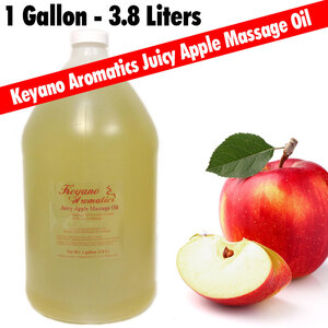 Keyano Aromatics - Juicy Apple Massage Oil 128 oz. - 1 Gallon (224 0395 12)