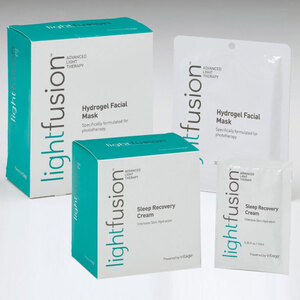 Silhouet-Tone Lightfusion 20 Treatment Set - Includes Lightfusion Hydrogel Masks + Lightfusion Sleep Recovery Cream for Use with Lightfusion Advanced LED Light Therapy