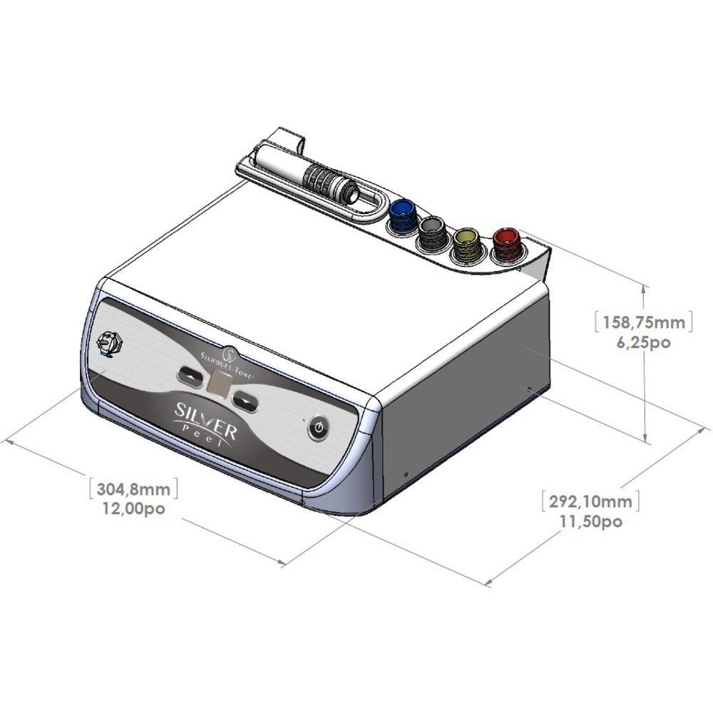 Silhouet-Tone Silver Peel Crystal-Free Diamond Microdermabrasion