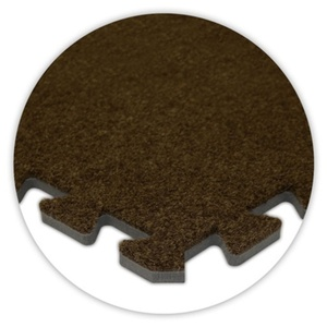 SoftCarpets Solid Color Foam Interlocking Flooring - Extra Pieces Corners Borders Insides by Alessco
