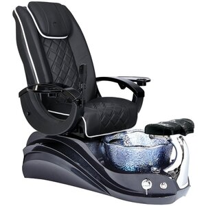 Crane Pedicure Chair with Floral-Shaped Crystal Glass Pedicure Basin ()