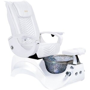 Valentino Lux Pedicure Chair with Crystal Glass Pedicure Basin ()