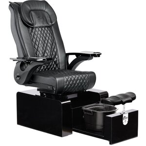 Pure II Non-Plumbed Pedicure Chair Pedicure Tub with Heat and Vibration ()
