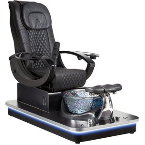 Felicity Freeform Pedicure Chair with Crystal Glass Pedicure Basin ()