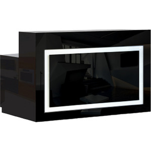 "Lume Reception Desk with LED Accent Lights 60"" W Available in Black or White (SCLUME)"