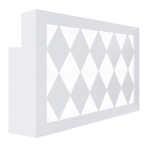 "Valentino Lux Diamond Reception Desk 60"" Wide Available in Gloss Black or Gloss White (SCDW)"