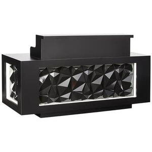 "Facet Reception Desk 78"" Wide Available in All Black Black & White or All White (SCFCT)"