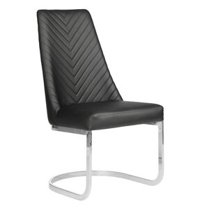 Chevron Customer Chair Non-Rolling Available in Black Chocolate Khaki or Gray (8111)