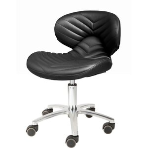 Chevron Pedicure Technician Stool Available in Black Chocolate White Gray as well as 100+ Other Colors! (1010L)