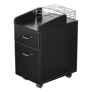 Pedicure Trolley with Organizer Available in Black White or Gray (TR03)