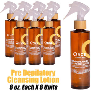 Once Natural Pre Depilatory Cleansing Lotion 8 oz. Each X 8 Units (ON-PDCL8 X 8)