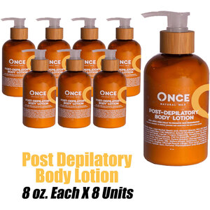 Once Natural Post Depilatory Body Lotion 8 oz. Each X 8 Units (ON-PDBL8 X 8)