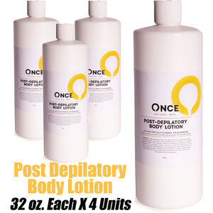 Once Natural Post Depilatory Body Lotion 32 oz. Each X 4 Units (ON-PDBL32 X 4)
