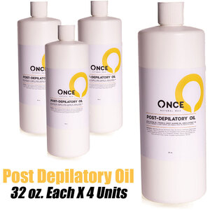 Once Natural Post Depilatory Oil 32 oz. Each X 4 Units (ON-PDO32 X 4)