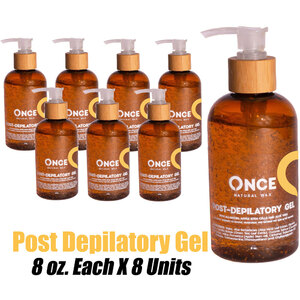 Once Natural Post Depilatory Gel 8 oz. Each X 8 Units (ON-PDG8 X 8)