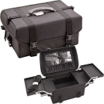 Black Soft-Sided Professional Makeup Case With Extendable Trays (C3022NLAB)