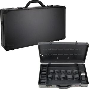 Black Matte Professional Barber Portable Travel Case WBrush And Combs Holder (VBK004-22)